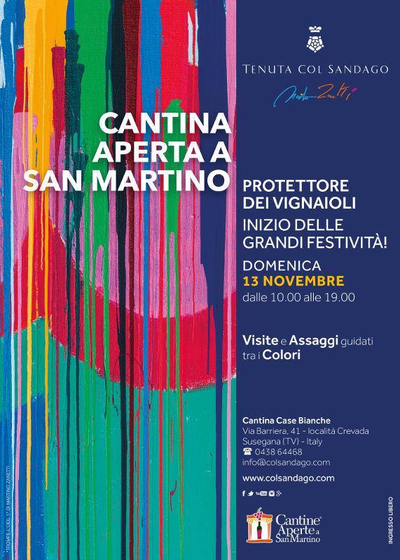 Cantina aperta a San Martino tra i colori di Martino Zanetti: Tenuta Col Sandago - Case Bianche
