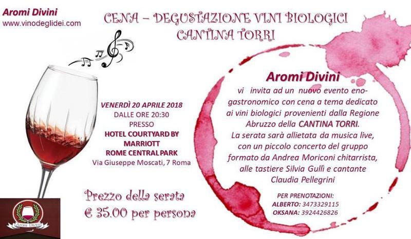 Cena - degustazione vini biologici