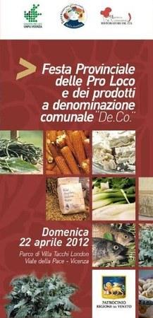 Festa provinciale delle Pro Loco e dei Prodotti De.Co. a Vicenza