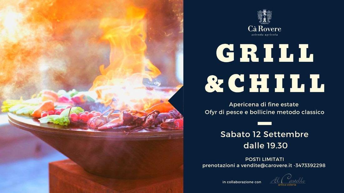 Grill & Chill: apericena di bbq di pesce e tante bollicine