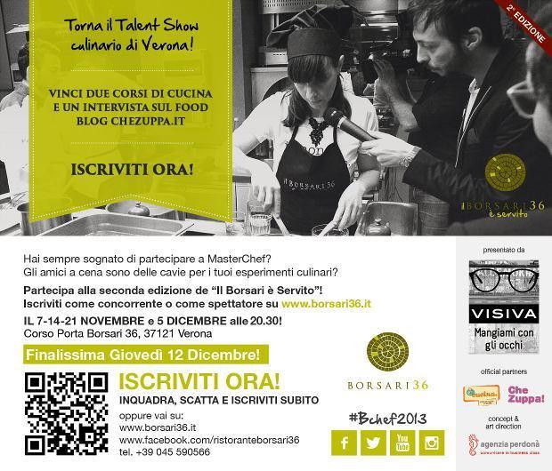 Il Borsari è Servito, Talent Show culinario a Verona
