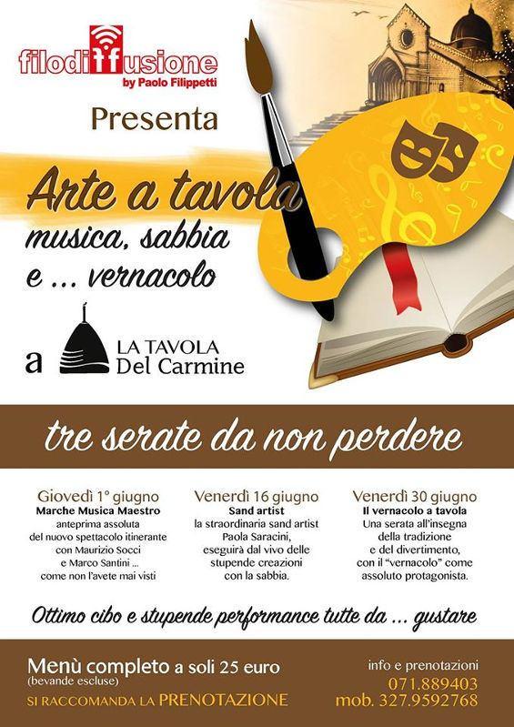 Arte a Tavola alla Tavola del Carmine di Ancona