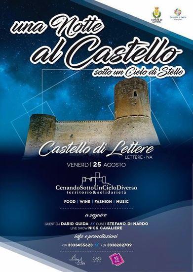 Notte al Castello sotto un cielo di stelle