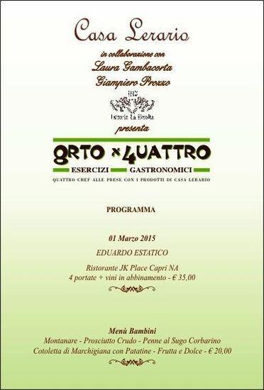 Il 1^ marzo a Casa Lerario di Melizzano (BN) per