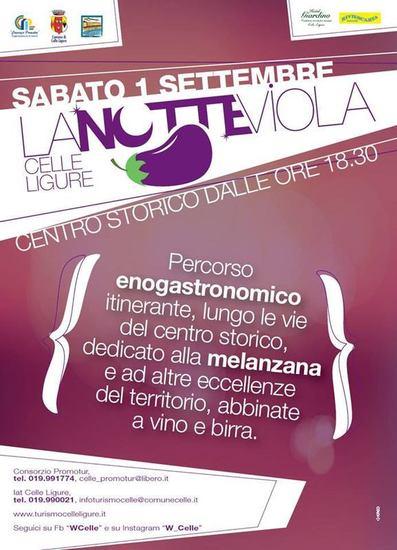 Notte Viola 2018 a Celle Ligure