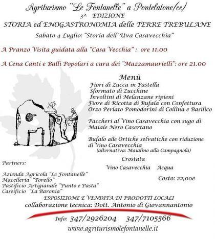 Storia ed Enogastronomia delle Terre Trebulane - 3^ Edizione