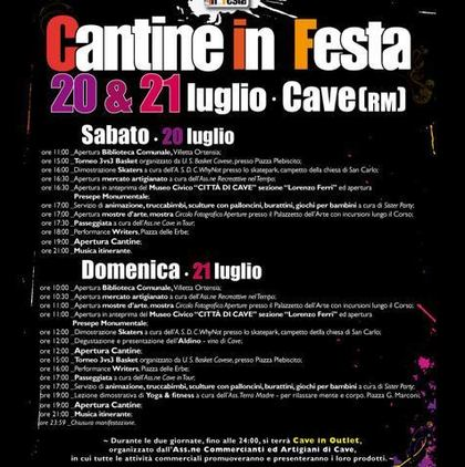 Cantine in Festa a Cave, Roma