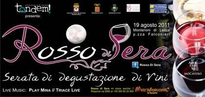 Rosso di Sera - Degustazione Vini a Monteroni di Lecce