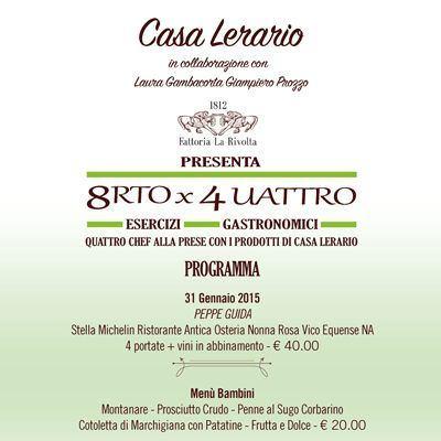 Dal 31 gennaio 2015 a Casa Lerario di Melizzano (BN)