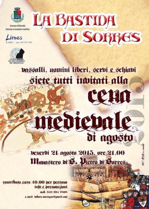 Cena Medievale per il via alla Bastida di Sorres