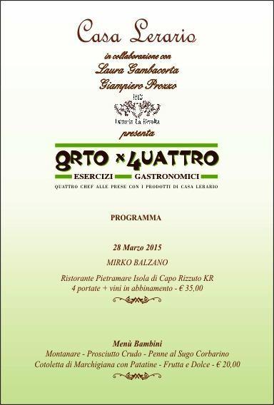 Il 28 marzo a Casa Lerario di Melizzano (BN) per