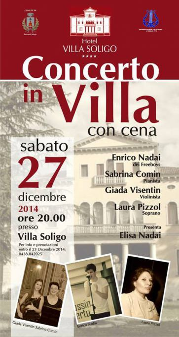 Concerto in Villa con cena a Villa Soligo